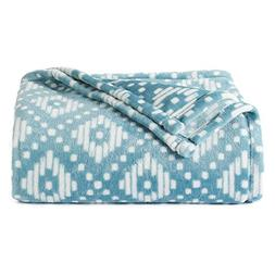 The Big One Super Soft Plush Throw Teal Diamonds