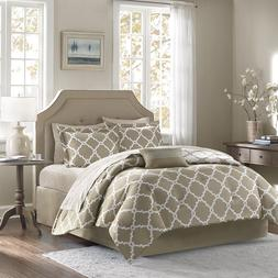 Taupe 10 Piece Bed In a Bag Luxurious Comforter Set - SHEET