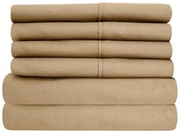 Taupe Solid Queen  4 PCs Sheet Set Highest Quality Breathabl