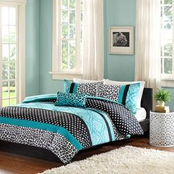 Home Style Teen Girls Bedding Damask Leopard Comforter Twin/