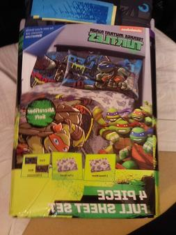 TEENAGE MUTANT NINJA TURTLES FULL SZ SHEET SET~NEW~1 FLAT/1