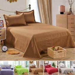 Terylene Bed Sheet Solid Color Bedclothes Three Sizes Bedroo