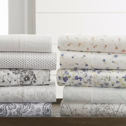 The Home Collection - 4 Piece Pattern Bed Sheet Sets - 6 Des