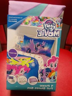 MY LITTLE PONY~THE MOVIE~FULL SIZE SHEET SET~NEW~1 FLAT/1 FI