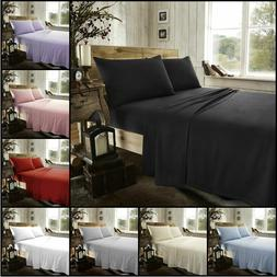 Thermal Flannelette Fitted Flat Bed Sheet Single Double King