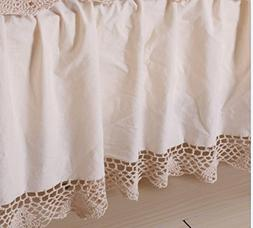 Octorose 100% Thick Cotton Material with Hand Crochet Lace E