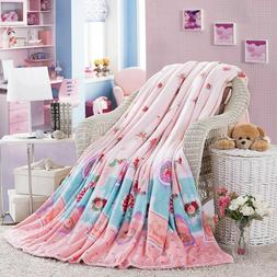 Thin Soft Blanket Winter Warm Fluffy Throws Floral Printes B
