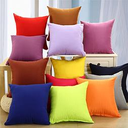 Huacel Throw Pillow Case Solid Color Pillow Cover Sofa Cushi