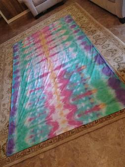 Tie Dye Flat Twin bed Sheets Tapestry Wall Hanging Tapestrie