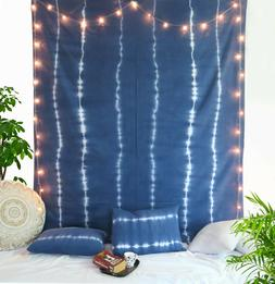 Tie Dye King Size Bed Sheet Bed Decor 100% Cotton Bedding Wi