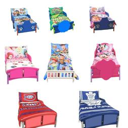 Toddler 3 Piece Kids Bedding Set - Comforter, Fitted Sheet &