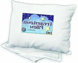 Dreamtown Kids Toddler Pillow With Pillowcase 14x19 White Hy