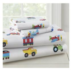 Olive Kids Trains, Planes, Trucks Toddler Bedding Sheet Set