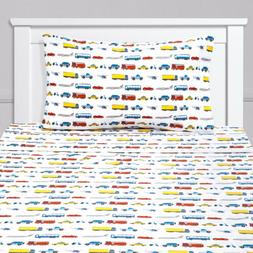Transportation Cars, Trucks, Planes Buses Kids Sheet Set Twi