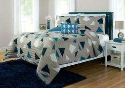 Better Homes and Gardens Triangles & Diamonds 4 Piece Quilt