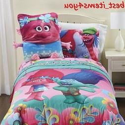 Trolls Colorful Twin Sheet Set Soft Pillow Toddler Children