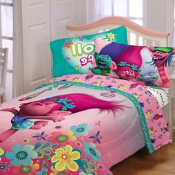Dreamworks Trolls Reversible Twin Comforter & Sheets K