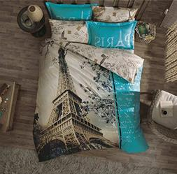 Paramus Turkish Cotton 4 Pcs!! Ranforce Paris Eiffel Tower T