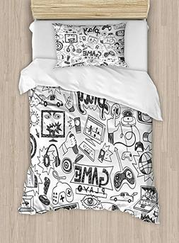 Full Bedding Sets for Boys,Video Games Duvet Cover Set,Monoc