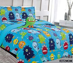 6 Piece Twin Size Kids Boys Teens Comforter Set Bed in Bag w