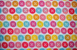 Sweet Dream Collection Twin Colorful Button Sheet Set