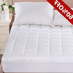 MEROUS Twin Size Cotton Mattress Pad Down Alternative Mattre