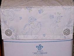 Simply Shabby Chic TWIN SIZE soft paisley sheet set  soft bl