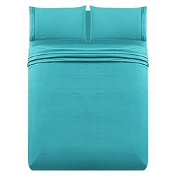LuxeManor 3pc Twin Size Bed Sheet Set - Soft Brushed Micro