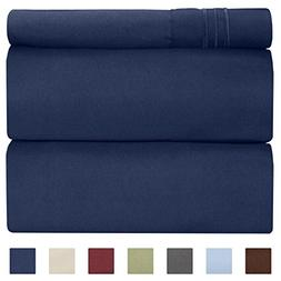 Twin Size Sheet Set - 3 Piece - Hotel Luxury Bed Sheets - Ex