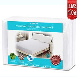 King Size Premium Waterproof Breathable Mattress Protector b