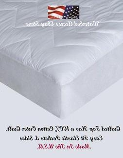 California King Cotton Mattress Pad for King Waterbeds