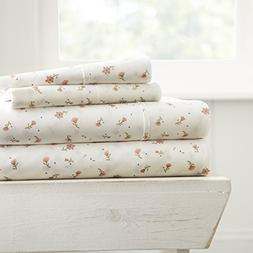 Simply Soft 4 Piece Sheet Set Floral Patterned, TWIN, Soft F