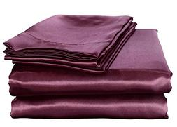 HONEYMOON HOME FASHIONS Ultra Luxury and Soft Satin Queen Be