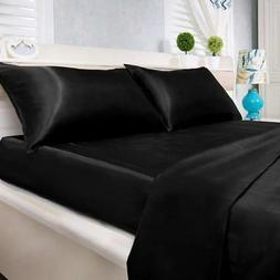 Natural Life Home Ultra Soft and Silky Satin Sheet Set 4-Pie