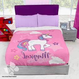 Unicorn Horse Rainbow Fleece Blanket Comforter Sheets TWIN 4