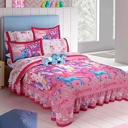 NEW PRETTY COLLECTION UNICORNS KIDS GIRLS BEDSPREAD SET AND