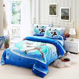Norson Unique Cartoon Anime Hatsune Miku 3 Piece Bedding Set
