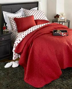 Valentine Bed Sheets Red Hearts Bedding Quilt Sham Heart She