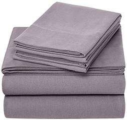 Pinzon 170 Gram Velvet Flannel Sheet Set – King, Graphite