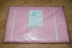 Vintage Macy's Mayflower Combed Percale Pink Bed Sheets NOS