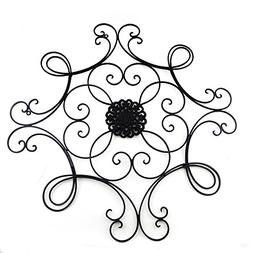 Adorox Wall Medallion Decor Square Scrolled Metal Art