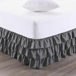Sweet Home Collection Waterfall Bed Skirt Unique Dust Ruffle