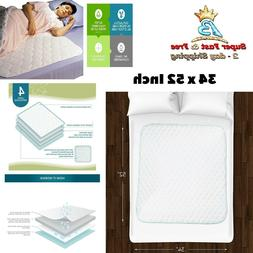 Waterproof Bed Protector Mattress Pad Washable Sheet Underpa