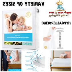 Waterproof Fabric Mattress Protector Bedding Sheet Bed Bug H