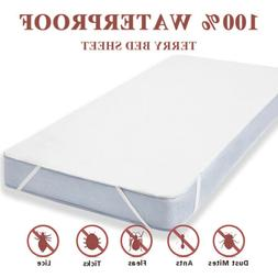 Waterproof Fitted Sheet Mattress Cover Pad Protector Soft Te
