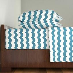 Whimsical Zigzag Chevron Waves Kids Bedding Cotton Sateen Sh