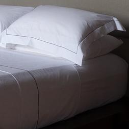 Huddleson White 500TC Made in Italy Cotton Percale Duvet Cov