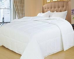 Natural Comfort White Down Alternative Comforter with Emboss