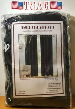 Window Curtains Blackout Room Thermal Insulated 2 Panels 52W