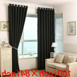 Window Curtains Blackout Room Thermal Insulated 2 Panels 100